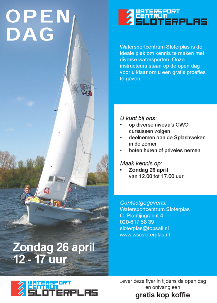 2015 A6 flyer opendag sloterplas